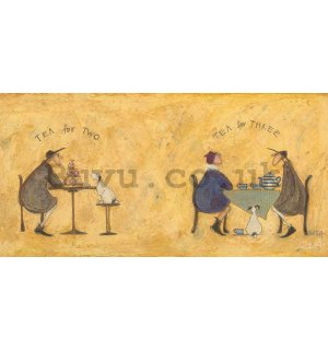 Painting on canvas: Sam Toft, Tea For Two Tea For Three