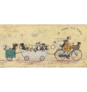 Painting on canvas: Sam Toft, The Doggie Taxi Service