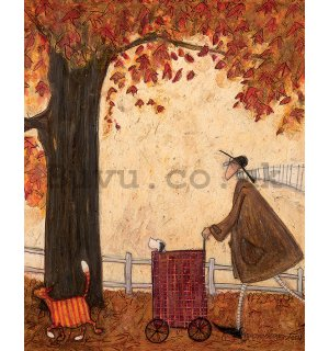 Painting on canvas: Sam Toft, Following The Pumpkin