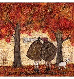Painting on canvas: Sam Toft, Just Beginning To See The Light