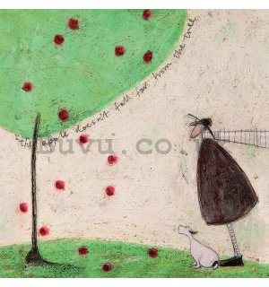 Painting on canvas - Sam Toft, The Apple Doesn't Fall Far From Tree