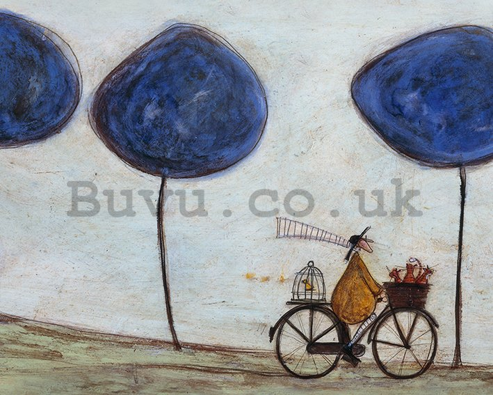 Painting on canvas - Sam Toft, Freewheelin' with Joyce Greenfields and the Felix 3