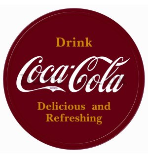Metal sign - Coca-Cola (circular logo)