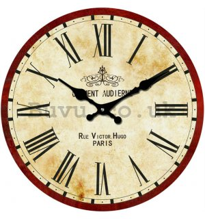 Glass wall clock - Rue Victor. Hugo Paris
