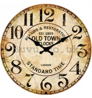 Glass wall clock - Repair & Restorations (Old Town Clocks)