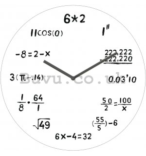 Glass wall clock - Mathematics (2)