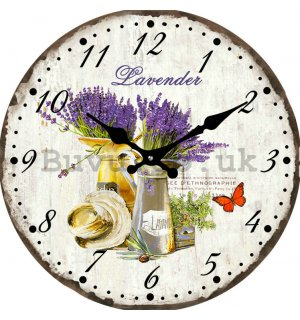 Glass wall clock - Lavender