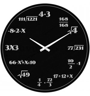 Glass wall clock - Mathematics (3)