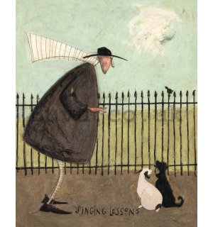 Painting on canvas: Sam Toft, Singing Lessons