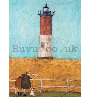 Painting on canvas: Sam Toft, Feeling the Love at Nauset Light