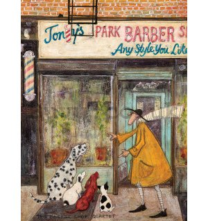 Painting on canvas: Sam Toft, The Barber Shop Quartet