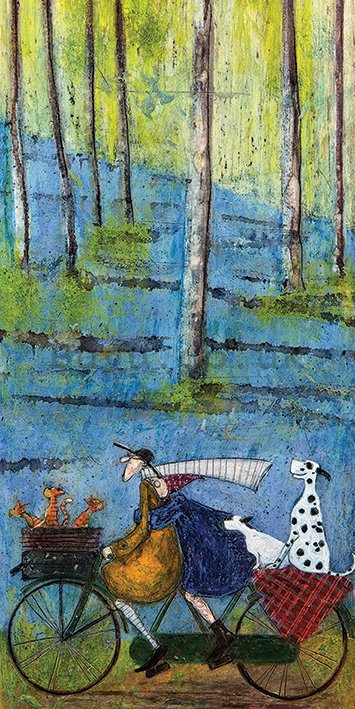 Painting on canvas: Sam Toft, Spring