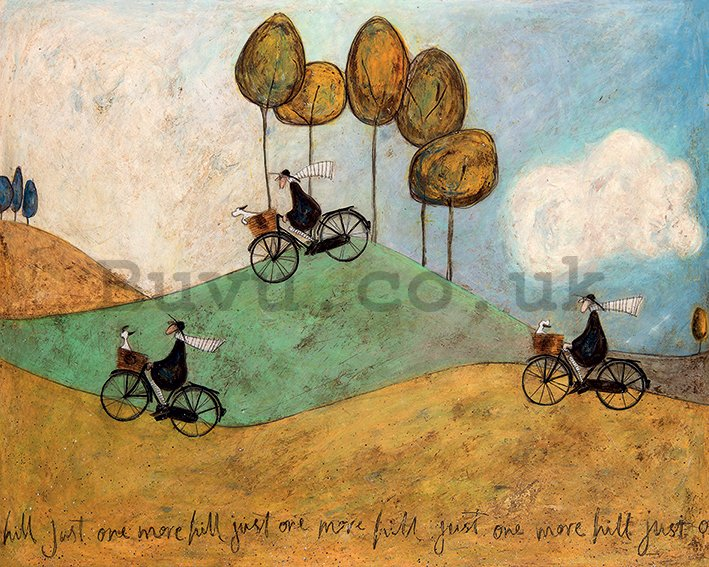 Painting on canvas: Sam Toft, Just One More Hill