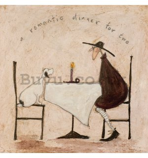 Painting on canvas: Sam Toft, A Romantic Dinner For Two