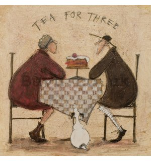 Painting on canvas: Sam Toft, Tea For Three 2
