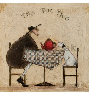 Painting on canvas: Sam Toft, Tea For Two