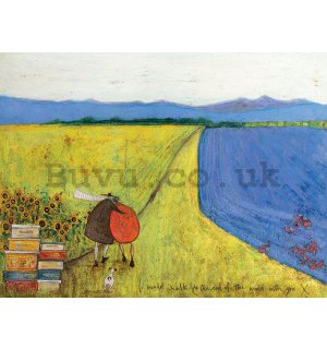 Painting on canvas: Sam Toft, I Would Walk to the End of the World wit