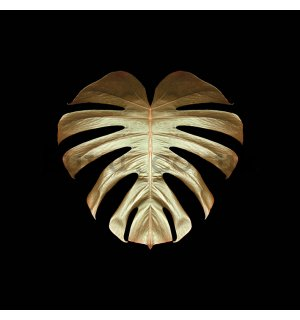 Painting on canvas: Alyson Fennell, Gold Deco Monstera
