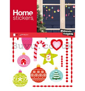 Christmas glass sticker - Sweet ornaments