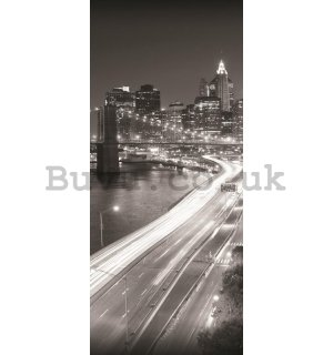 Wall Mural: Brooklyn Bridge Black & White (1) - 211x91 cm