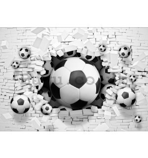 Wall Mural: Football explosion - 254x368 cm