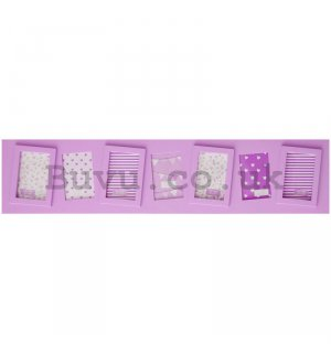 Photo frame - 7 windows, 5x7,5cm (Pink)