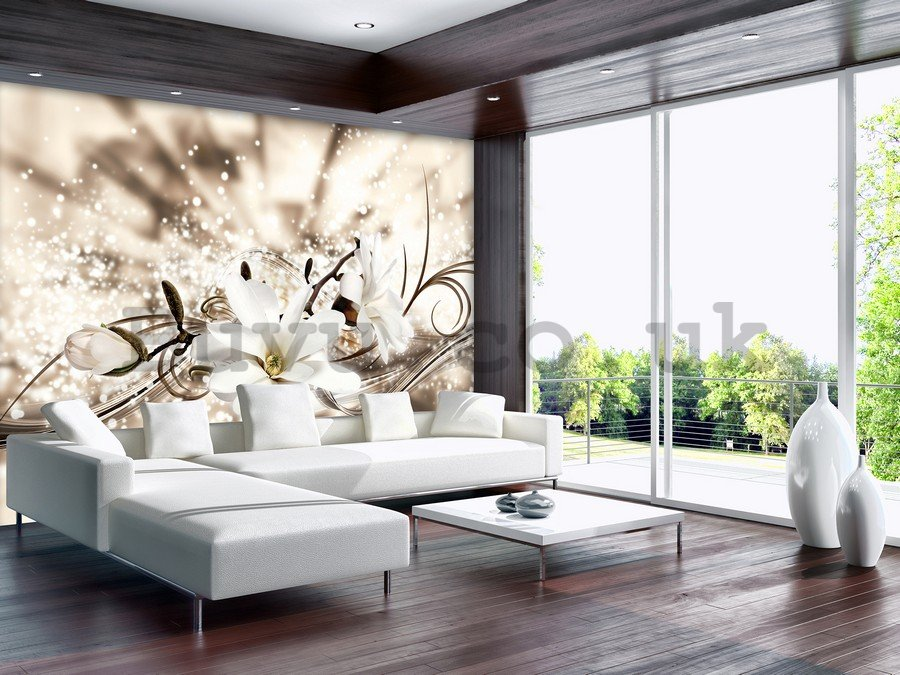 Wall Mural: Golden flower (1) - 184x254 cm
