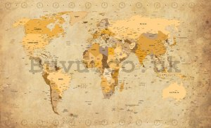 Wall Mural: Map of the world (Vintage) - 184x254 cm
