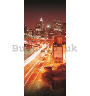 Wall Mural: Coloured Brooklyn Bridge - 211x91 cm