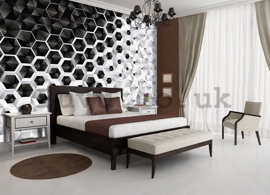 Wall Mural: 3D Abstraction (4) - 254x368 cm