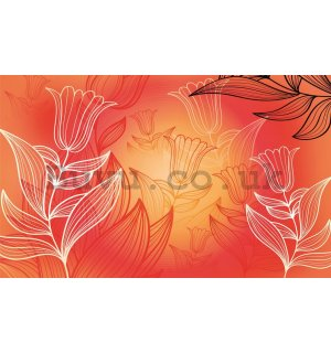 Wall Mural: Tulips (pattern) - 254x368 cm