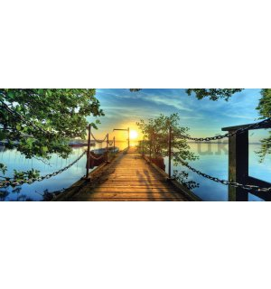 Wall Mural: View from the bridge to the bay - 104x250 cm