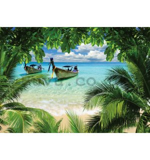 Wall Mural: Hawaii beach - 254x368 cm