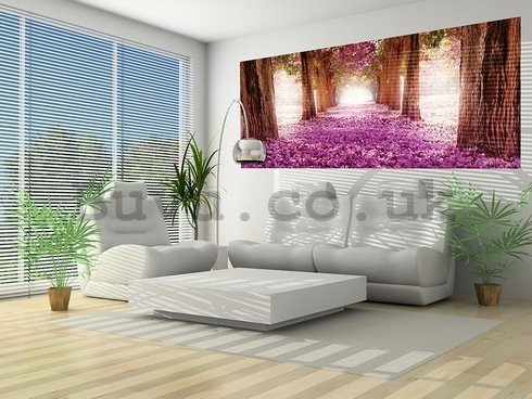 Wall Mural: Blossom alley (1) - 104x250 cm