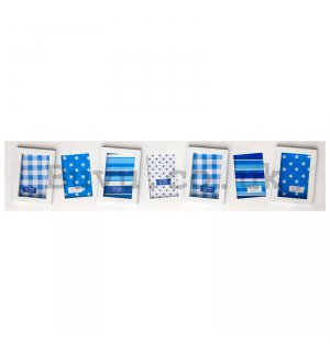 Photo frame - 7 windows, 5x7,5cm (White)