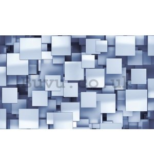 Wall Mural: Squares in the space (1) - 184x254 cm