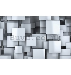 Wall Mural: Squares in the space (2) - 184x254 cm