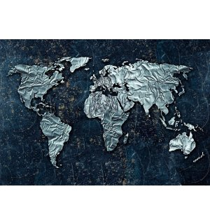 Wall Mural: Modern map of the world - 254x368 cm