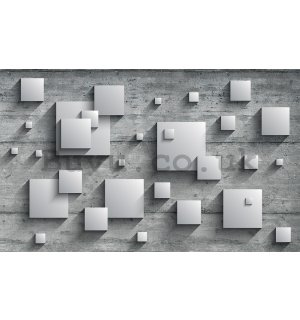 Wall Mural: Grey squares - 184x254 cm