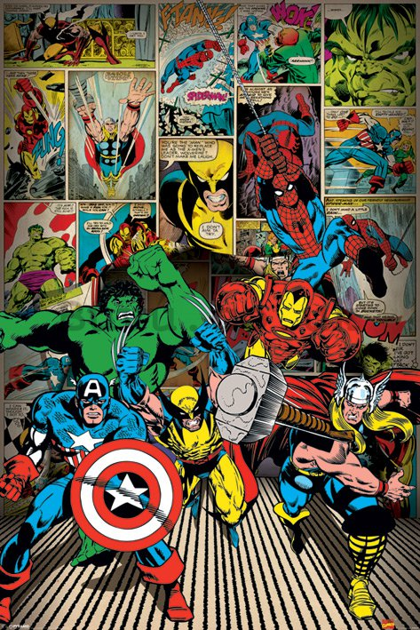 Poster - Marvel Comics, Here Come The Heroes