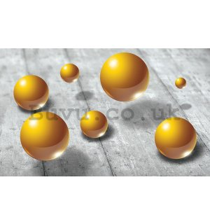 Wall Mural: Yellow marbles - 254x368 cm
