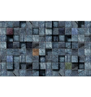 Wall Mural: Tiles (dark shades) - 184x254 cm