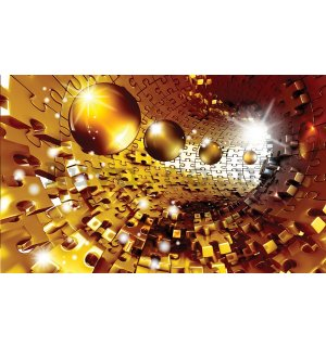 Wall Mural: Puzzle 3D tunnel (1) - 184x254 cm