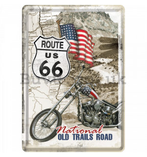 Metal postcard - Route 66 National Old Trails Road