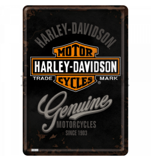 Metal postcard - Harley-Davidson Genuine