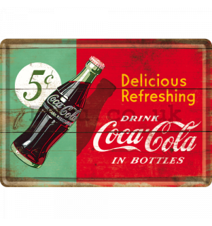 Metal postcard - Coca-Cola (bicolour)
