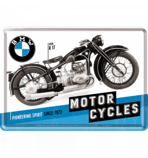 Metal postcard - BMW Motorcycles (Since 1923)