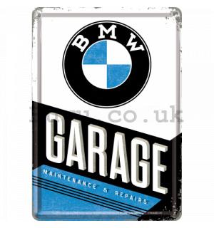 Metal postcard - BMW Garage