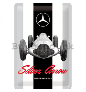 Metal sign: Mercedes-Benz Silver Arrow - 30x20 cm