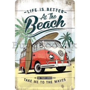Metal sign: VW Life is Better at the Beach - 30x20 cm